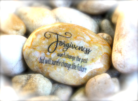 Forgiveness, Won't Change The Past But Will Surely Change The Future ~ Engraved Inspirational Rock