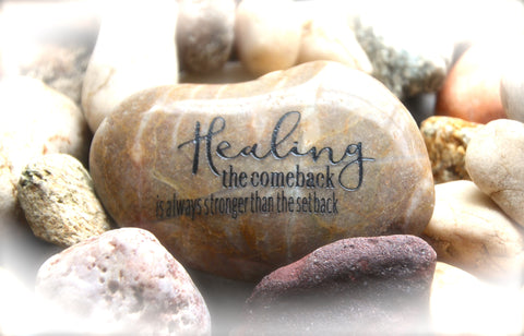 Inspirational Message | Engraved Rock | Get Well