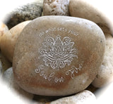 Do What Sets Your Soul On Fire ~ Engraved Inspirational Rock