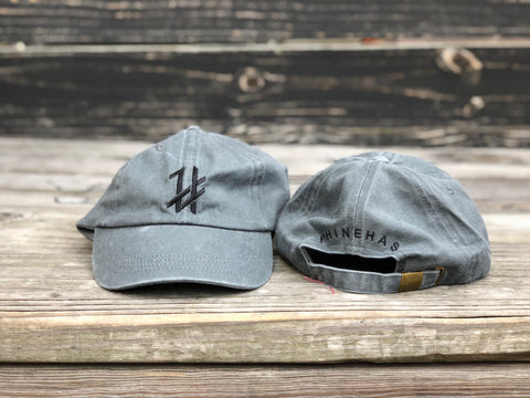 Grey Embroidered Hat