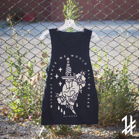 Midnight Blue Skull & Dagger Tank
