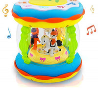 Switch Adapted Merry-Go-Round Musical Drum