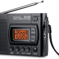 Switch Adapted AM FM Radio with Clock and Alarm