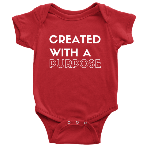 """Created"" Baby Bodysuit"
