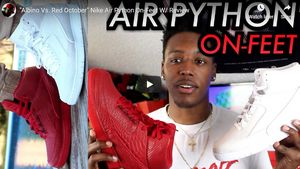 """Albino Vs. Red October"" Nike Air Python On-Feet W/ Review"