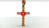 Diamond Cross Pendant 0.51 CT TW 14K Rose Gold DPEN020 - NorthandSouthJewelry