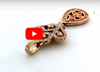 Diamond Pendant 0.92 CT TW 14K Rose Gold DPEN044 - NorthandSouthJewelry
