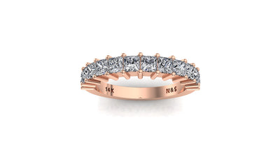 1.17 ct tw Princess Cut Diamond Anniversary Wedding Band 14K Gold Ban069