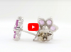 0.11 CT Amethyst Earring 1.43 CT TW Pink Sapphire 14K White Gold PSER001 - NorthandSouthJewelry