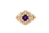 0.44 CT Amethyst Diamond Ring 0.70 CT TW 14K Rose Gold AMR003 - NorthandSouthJewelry