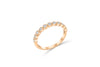 Diamond Wedding Band 0.30 ct tw Round-Cut 14K Rose Gold BAN048 - NorthandSouthJewelry