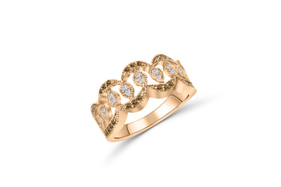 Chocolate Diamond Wide Band 0.58 ct tw Round-Cut 14K Rose Gold BAN051 - NorthandSouthJewelry