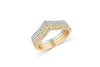 Diamond Wide Band 0.20 ct tw Round-Cut 14K Rose Gold BAN053 - NorthandSouthJewelry