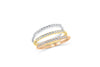 Diamond Wide Band 0.20 ct tw Round-Cut 14K Rose Gold BAN054 - NorthandSouthJewelry