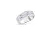 Diamond Wide Band 0.47 ct tw Round-Cut 14K White Gold BAN057 - NorthandSouthJewelry