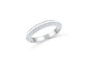 Diamond Wedding Band 0.61 ct tw Round-Cut 14K White Gold BAN060 - NorthandSouthJewelry