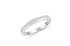 Diamond Wedding Band 0.32 ct tw Round-Cut 14K White Gold BAN061 - NorthandSouthJewelry