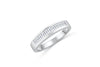 Diamond Wedding Band 0.78 ct tw Baguette-Cut 14K White Gold BAN062 - NorthandSouthJewelry