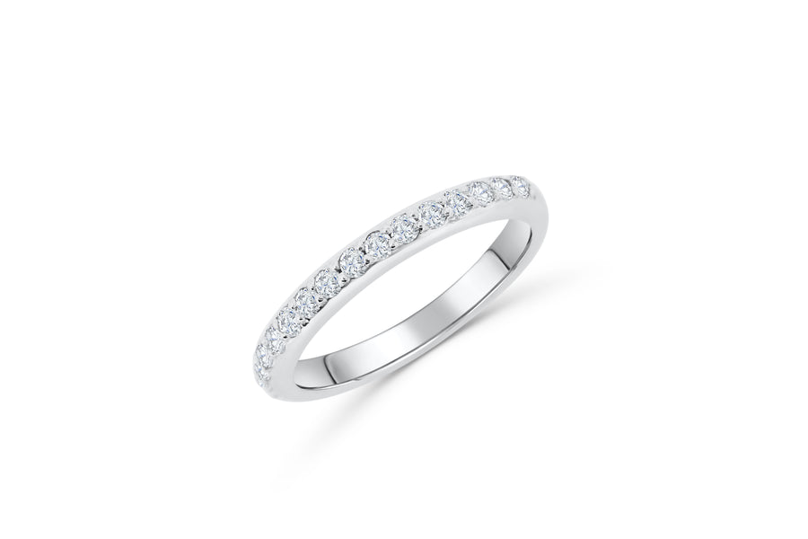 Diamond Wedding Band 0.42 ct tw Round-Cut 14K White Gold BAN063 - NorthandSouthJewelry