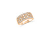 Milgrain Diamond Anniversary Band 0.98 ct tw Round-cut 14K Rose Gold BAN043