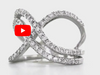 Interlocked Double Infinity Diamond Ring 0.83 ct tw Round-cut 14K White Gold DIR010 - NorthandSouthJewelry