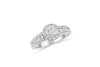Bezel Diamond Engagement Ring 0.90 ct tw 14K White Gold DENG004 - NorthandSouthJewelry