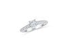 Pave Diamond Engagement Ring 1.01 ct tw 14K White Gold DENG007 - NorthandSouthJewelry