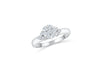 Invisible Cluster Diamond Engagement Ring 0.52 ct tw 14K White Gold DENG008 - NorthandSouthJewelry