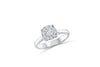 Cluster Diamond Engagement Ring 0.80 ct tw 14K White Gold DENG009