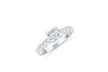 Diamond Engagement Ring 2.09 ct tw 14K White Gold DENG015 - NorthandSouthJewelry