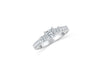 Three Stone Princess Diamond Engagement Ring 0.73 ct tw 14K White Gold DENG020 - NorthandSouthJewelry