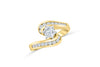 Diamond Engagement Ring 1.19 ct tw 14K Yellow Gold DENG024 - NorthandSouthJewelry