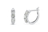 0.86 CT TW Round Diamond Hoop Earrings 14K White Gold DER005 - NorthandSouthJewelry
