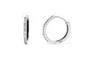 0.24 CT TW Round Diamond Hoop Earrings 14K White Gold DER011 - NorthandSouthJewelry