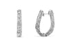0.56 CT TW Round Diamond Hoop Earrings 14K White Gold DER013 - NorthandSouthJewelry