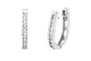0.79 CT TW Round Diamond Hoop Earrings 14K White Gold DER014 - NorthandSouthJewelry