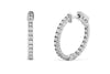 1.40 CT TW Round Diamond Hoop Earrings 14K White Gold DER016 - NorthandSouthJewelry