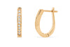 0.49 CT TW Round Diamond Hoop Earrings 14K Rose Gold DER017 - NorthandSouthJewelry