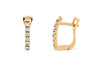 0.32 CT TW Round Diamond Hoop Earrings 14K Rose Gold DER018 - NorthandSouthJewelry