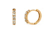 0.52 CT TW Round Diamond Hoop Earrings 14K Rose Gold DER019 - NorthandSouthJewelry