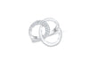 Interlocked Diamond Ring 0.40 ct tw Round-cut 14K White Gold DIR007 - NorthandSouthJewelry
