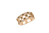 Gapped Chocolate & White Diamond Anniversary Band 1.08 ct tw Round-cut 14K Rose Gold DIR015 - NorthandSouthJewelry
