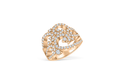 Clustered Diamond Ring 1.08 ct tw Round-cut 14K Rose Gold DIR016