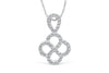 Double Infinity Diamond Pendant 0.47 CT TW 14K White Gold DPEN004