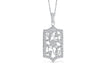 Hexagon Floral Diamond Pendant 1.01 CT TW 14K White Gold DPEN008