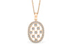 Racket String Diamond Pendant 0.58 CT TW 14K Rose Gold DPEN009