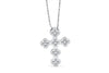 Cross Diamond Pendant 0.59 CT TW 14K White Gold DPEN011 - NorthandSouthJewelry