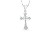 Diamond Cross Pendant 0.45 CT TW 14K White Gold DPEN012