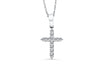 Diamond Cross Pendant 0.35 CT TW 14K White Gold DPEN014