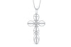Enclosed Cross Diamond Pendant 0.34 CT TW 14K White Gold DPEN016